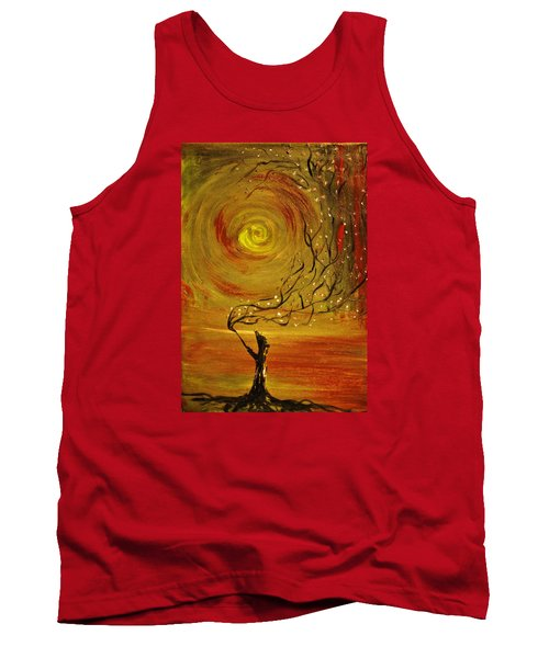 Tank Top featuring the painting Blossom by Evelina Popilian