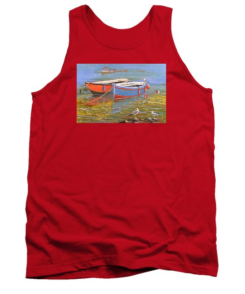 Blue And Orange Tank Top by Bill Holkham