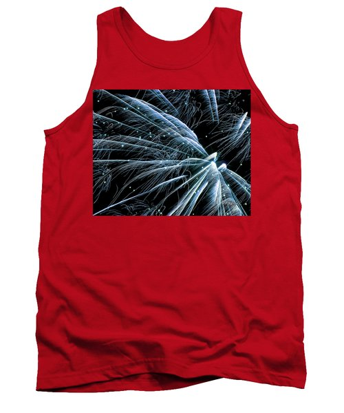 Blue Fairy Fireworks #0710_3 Tank Top