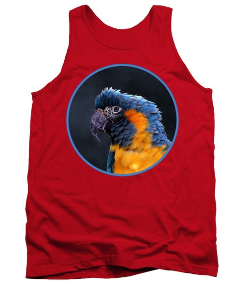 Blue-throated Macaw Profile Tank Top