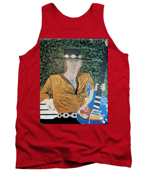 Blues In The Park With Stevie Ray Vaughan. Tank Top by Ken Zabel