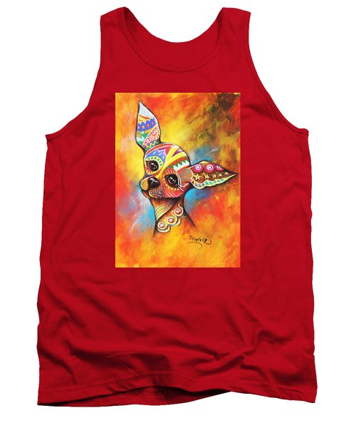 Tank Top featuring the drawing Chihuahua by Patricia Lintner