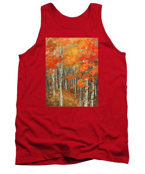 Tank Top featuring the painting Bold Banners by Tatiana Iliina