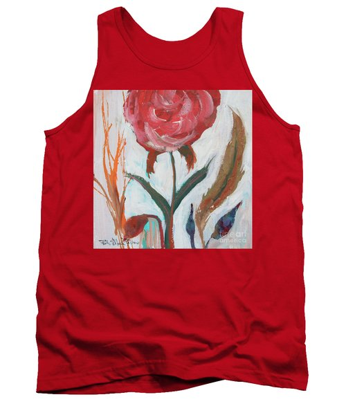 Tank Top featuring the painting Bold Bright Beautiful Bloom by Robin Maria Pedrero