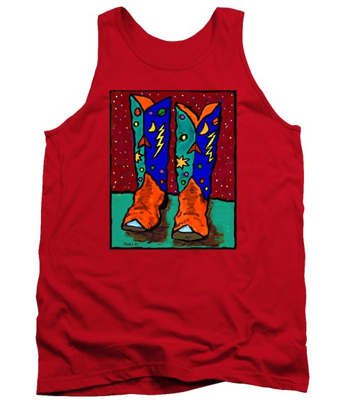 Boots On Rust Tank Top