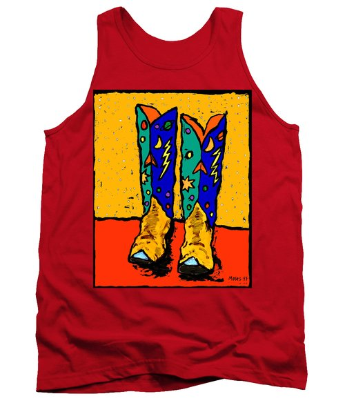 Boots On Yellow 24x30 Tank Top