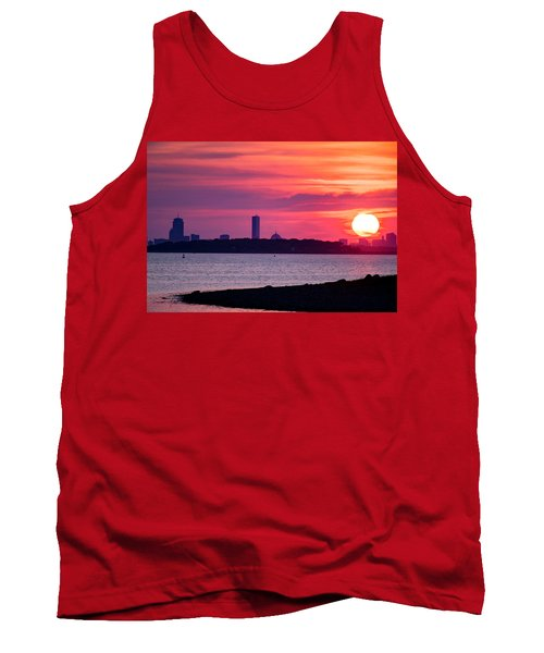 Boston Skyline Worlds End Tank Top