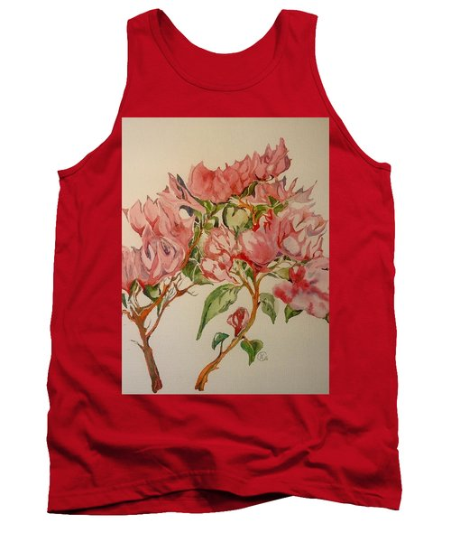 Tank Top featuring the painting Bougainvillea by Iya Carson