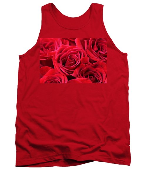Bouquet Of Red Roses Tank Top by Peggy Collins