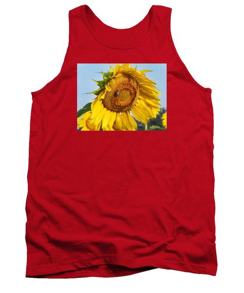 Bowed Sunflower Tank Top