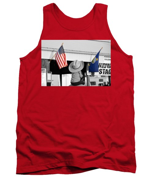 Boy With Two Flags Tank Top by Catherine Sherman