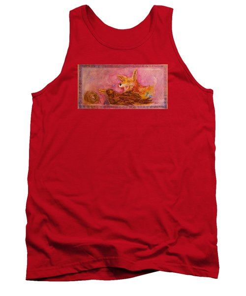 Tank Top featuring the painting Bre Fox And Bre Crow by Gertrude Palmer