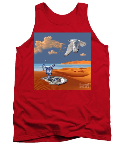 Tank Top featuring the digital art Breakfast With White Falcon by Alexa Szlavics