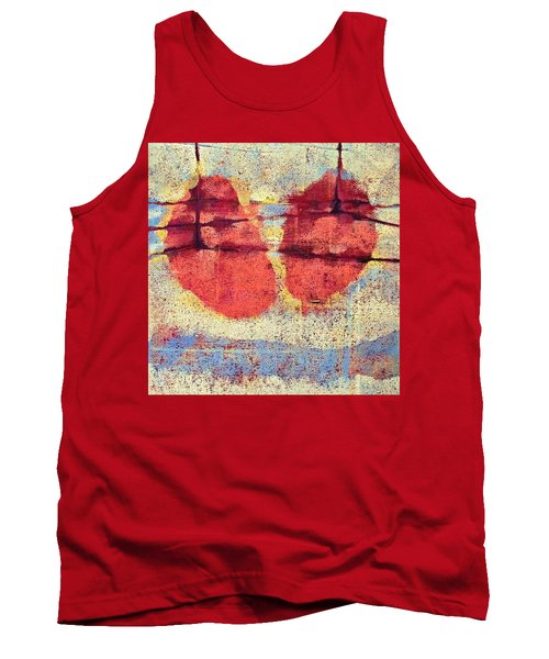Tank Top featuring the painting Breathe by Maria Huntley