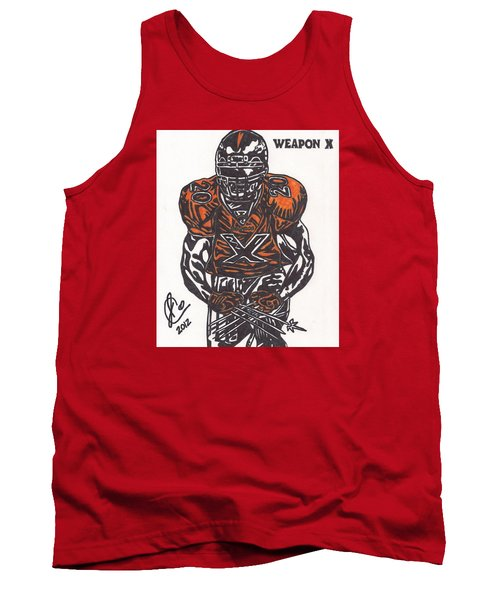 Tank Top featuring the drawing Brian Dawkins by Jeremiah Colley