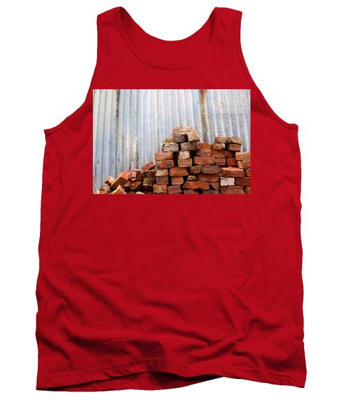 Tank Top featuring the photograph Brick Piled by Stephen Mitchell