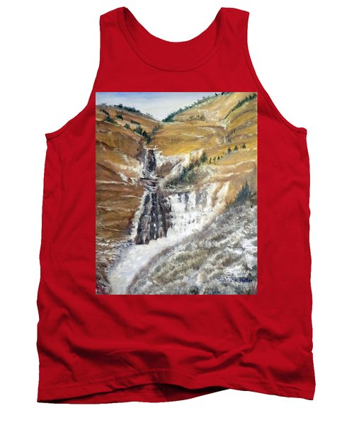 Bridal Veil Falls In Winter Tank Top