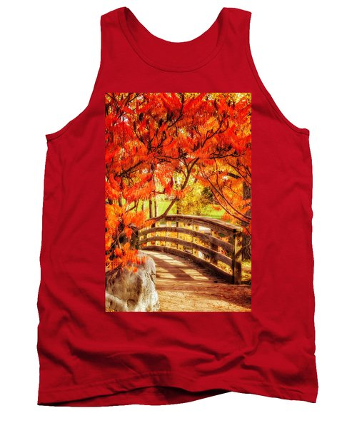 Tank Top featuring the photograph Bridge Of Fall by Kristal Kraft