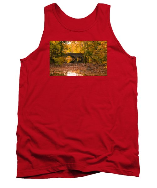 Tank Top featuring the photograph Bridge Of Gold by Cathy Donohoue