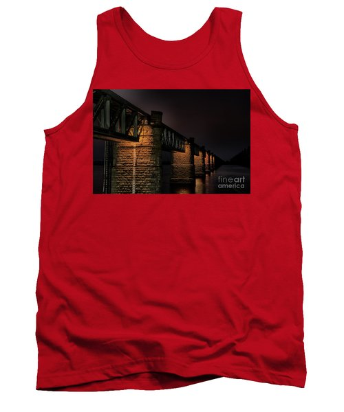 Bridge On Holy River Godavari Tank Top by Kiran Joshi