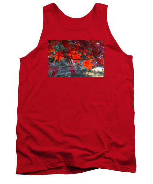 Bright Autumn Leaves Tank Top