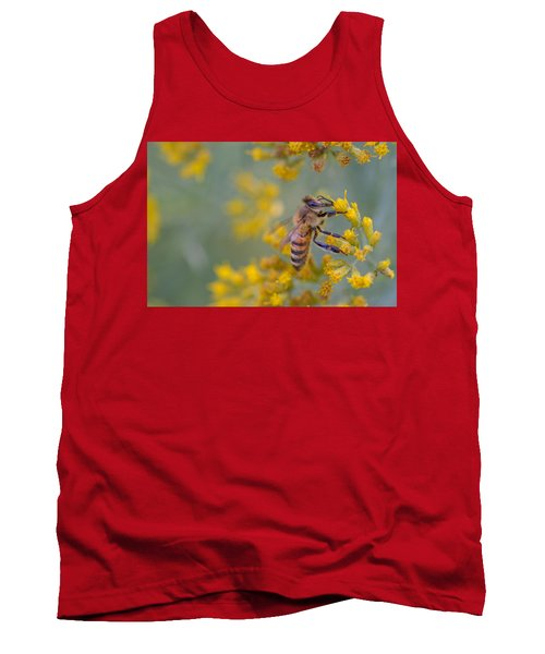 Bright Eyed Bee Tank Top by Janet Rockburn