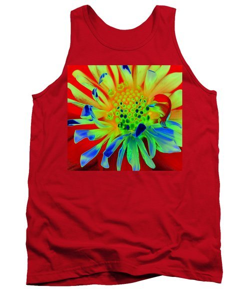 Bright Flower Tank Top by Diane E Berry
