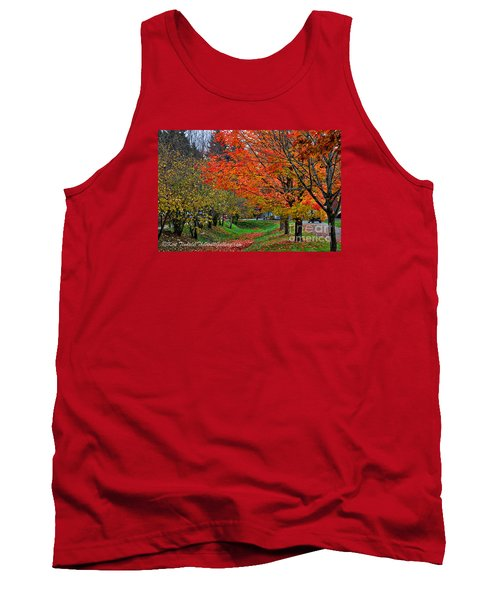 Tank Top featuring the digital art Bright Orange Fall Colors by Kirt Tisdale