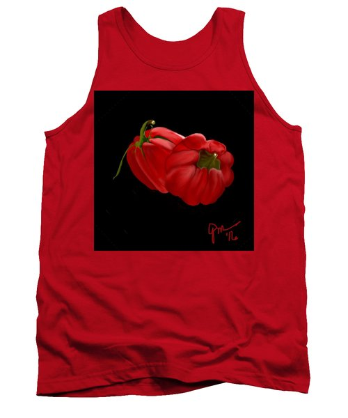 Bright Red Peppers Tank Top