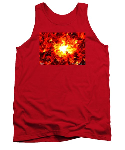 Tank Top featuring the painting Brighter Than The Sun by Holley Jacobs