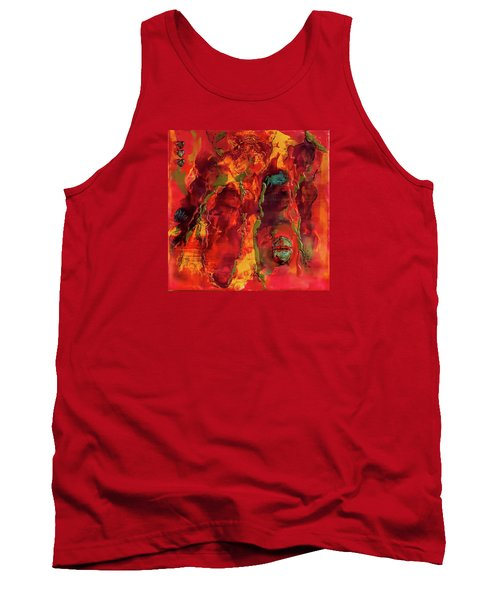 Broken Mask Encaustic Tank Top