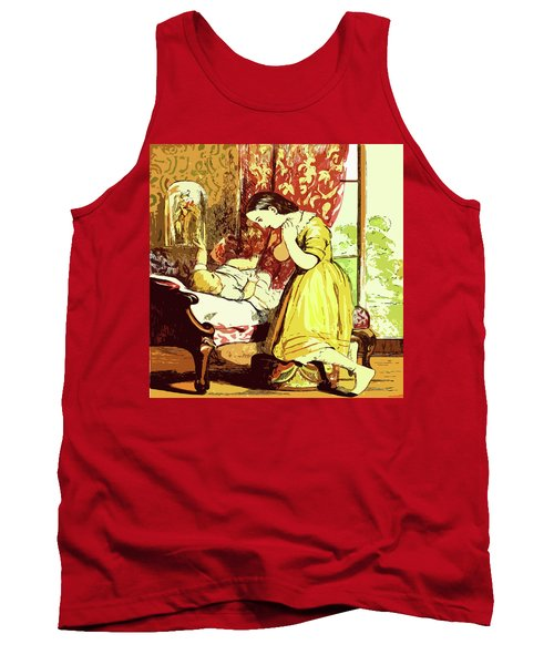 Tank Top featuring the drawing Brother And Sister by Digital Art Cafe
