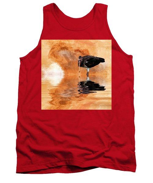 Brown Ibis Tank Top by Cyndy Doty