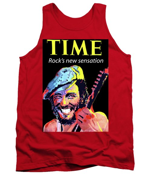 Bruce Springsteen Time Magazine Cover 1980s Tank Top