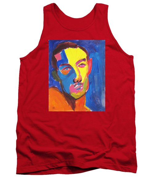 Tank Top featuring the painting Bryan Portrait by Shungaboy X