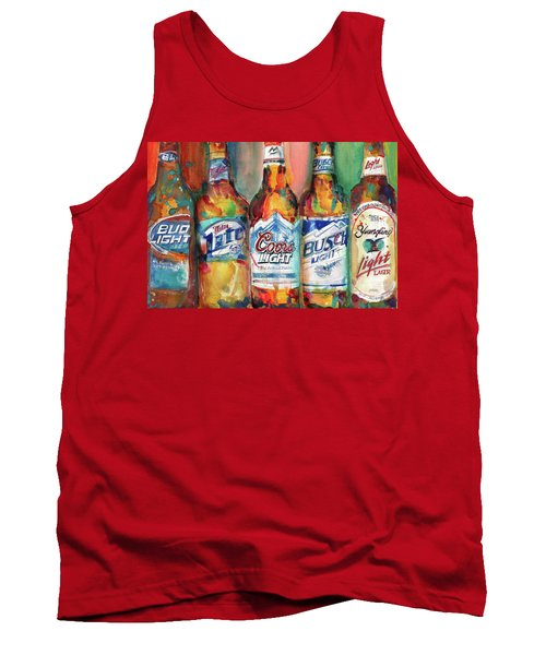 9e77e615d25ea Bud Light Miller Lite Coors Light Busch Light Yuengling Light Combo Beer  Tank Top