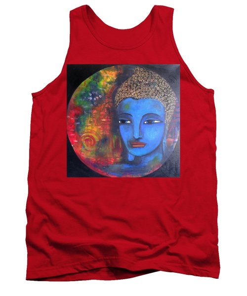 Buddha Within A Circular Background Tank Top