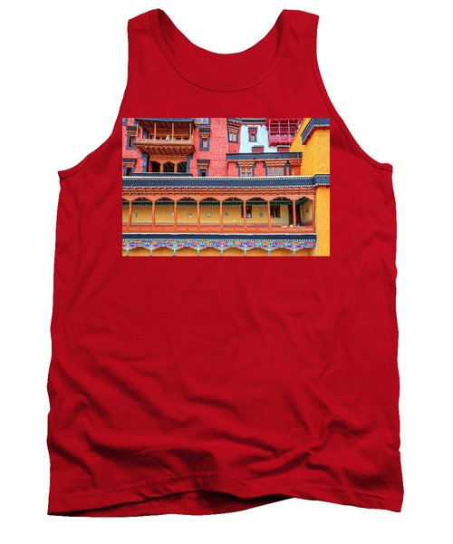 Tank Top featuring the photograph Buddhist Monastery Building by Alexey Stiop