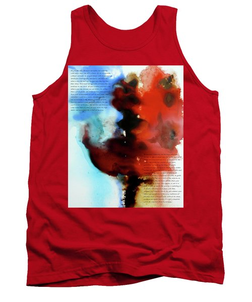 Tank Top featuring the painting Budding Romance by Jo Appleby