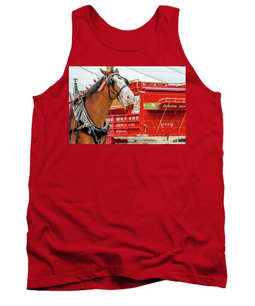 Budweiser Clydesdale In Full Dress Tank Top by Bill Gallagher