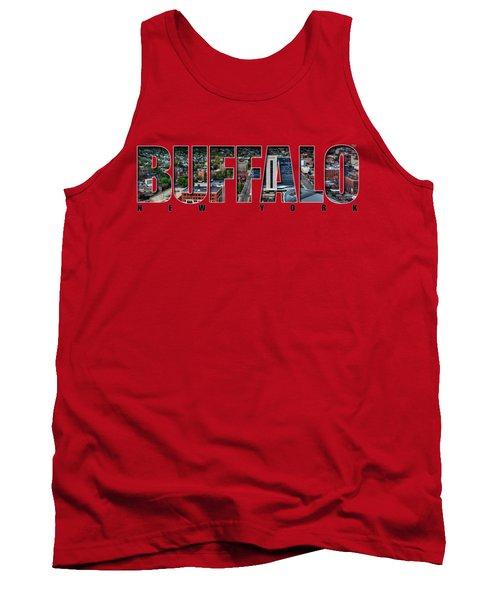 Buffalo Ny Niagara, Elmwood And Delaware Tank Top by Michael Frank Jr