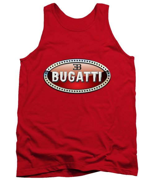 Bugatti - 3 D Badge On Red Tank Top