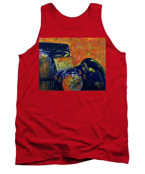 Bugatti Abstract Blue Tank Top by Walter Fahmy