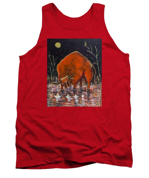 Bull And Paper Boats Tank Top