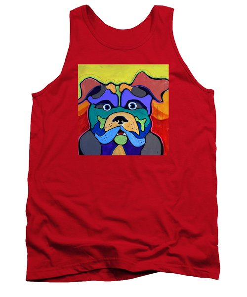 Bull Dog - Don't Give Me Your Lines , And Keep Your Hands To Yourself Tank Top