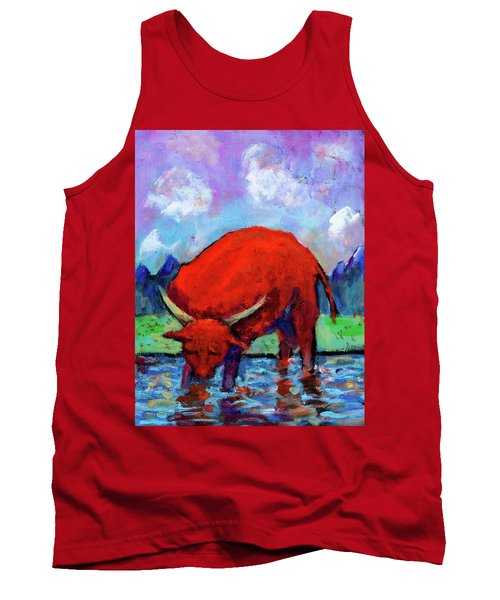 Bull On The River Tank Top