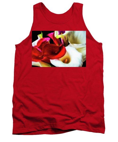 Bunch Of Beautiful Calla Lilies Tank Top