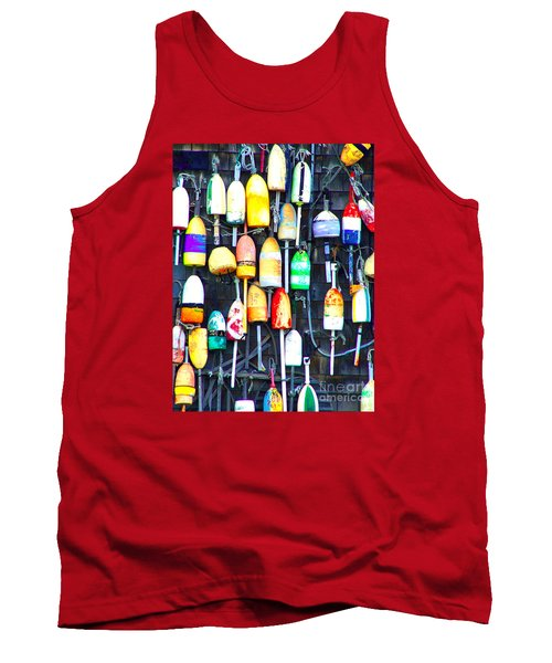 Tank Top featuring the photograph Buoy Art by Bill Holkham