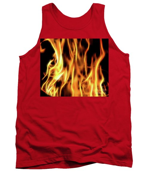 Burning Flames Fractal Tank Top