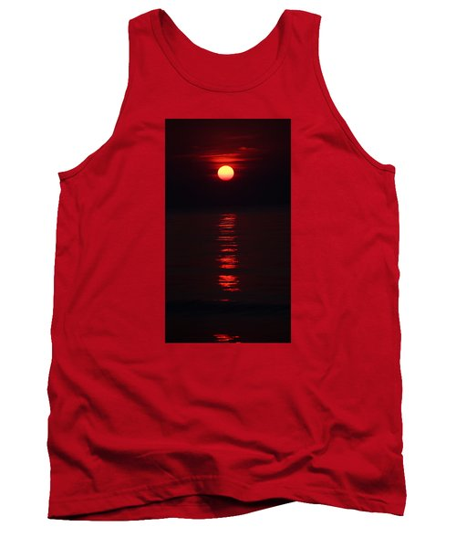Burnt Orange Sunrise Tank Top
